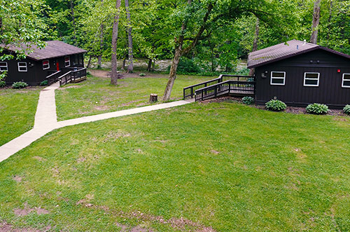 Accessible cabins at Mohican