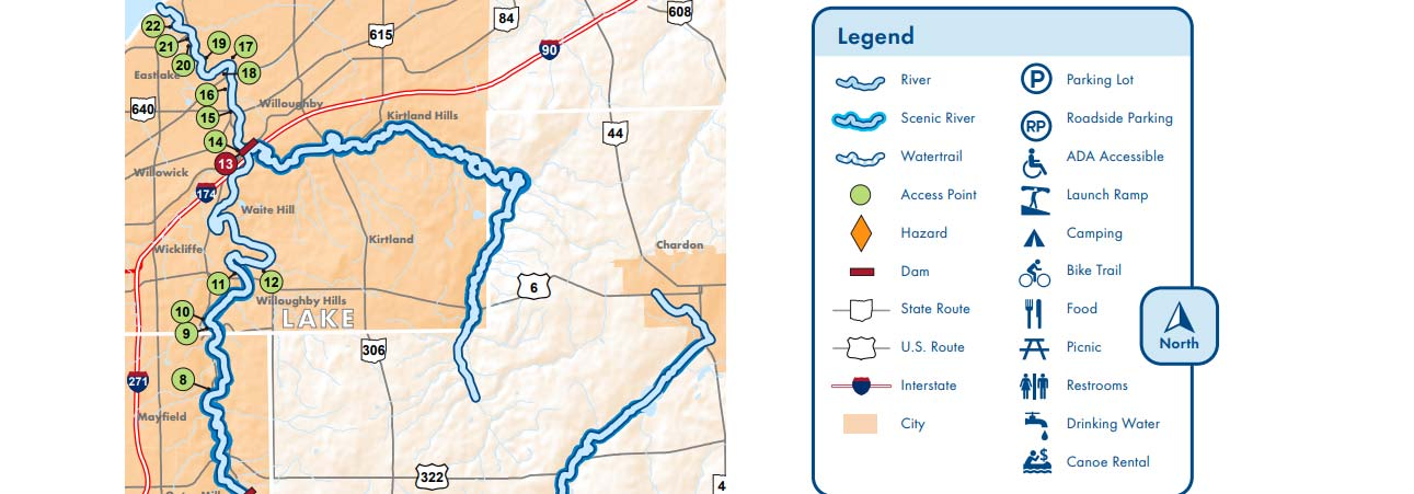 Rivers In Ohio Map.Scenic Rivers Maps