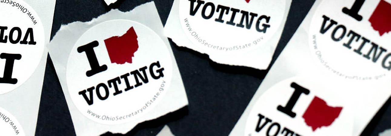 Sticker voters receive after voting.