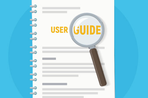 An illustration of a user guide
