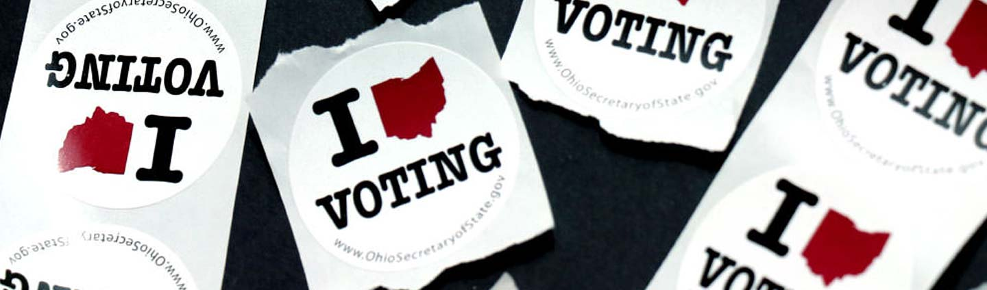 Ohio I love voting stickers